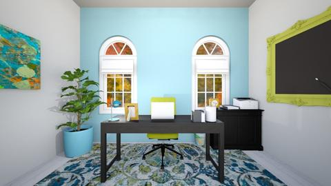 Blue Green Yellow Office - Office - by josielz