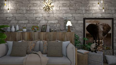 rustic - Rustic - Living room  - by Briianaaa