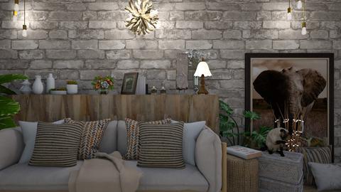 rustic - Rustic - Living room  - by Briianaaa