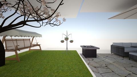 garden and patio in stone - Feminine - Garden - by Brights_brocks