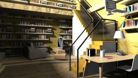 Study room with kitchen - Modern - Office  - by AnaACE16