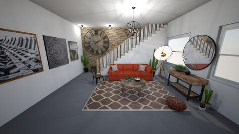 Industrial Living Room - Living room  - by Daively__1000