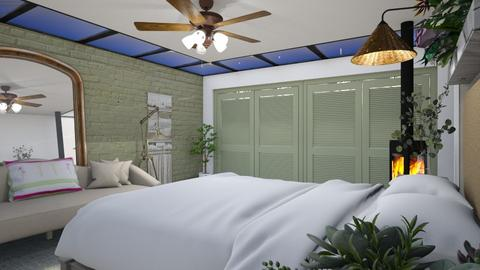 Basement sage bed - Eclectic - Bedroom  - by augustmoon