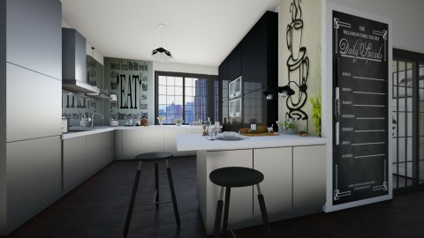 kitchen in my mind - Modern - Kitchen  - by lamzoi