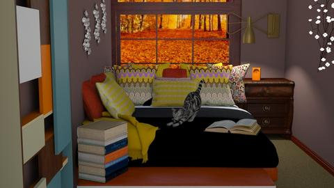 autumn story - Bedroom  - by Karen Priest