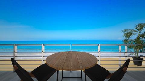 terraza de playa  - Garden - by Isa  cuartos