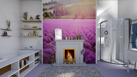 Lavender field - Bathroom  - by augustmoon