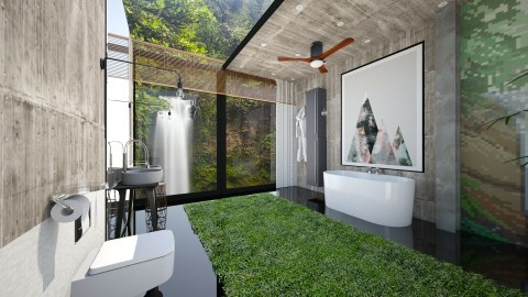 bathroom - Modern - Bathroom  - by Evangeline_The_Unicorn