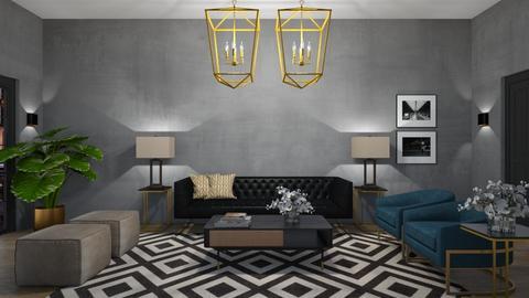 Livingroom Art deco - Living room  - by Ontwerpstudio34