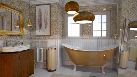 Bathing in gold - Rustic - Bathroom  - by HenkRetro1960