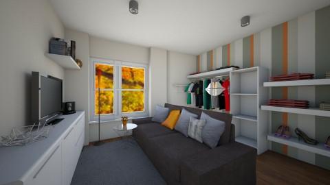 orange - Bedroom  - by Dominisiaa55555