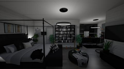 black and gold - Bedroom  - by martinal2