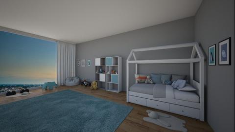 kidsroom blue - Modern - Kids room  - by GoldenGlow