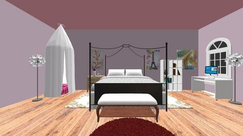 Teen Bedroom - Glamour - Bedroom  - by ljthompson01
