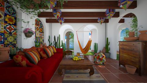 Mexican porch - Living room  - by Ida Dzanovic