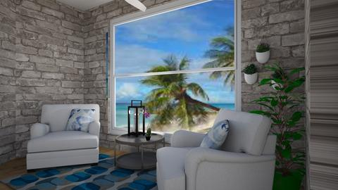 Snazzy Beach Room - Living room - by AuroraBelle