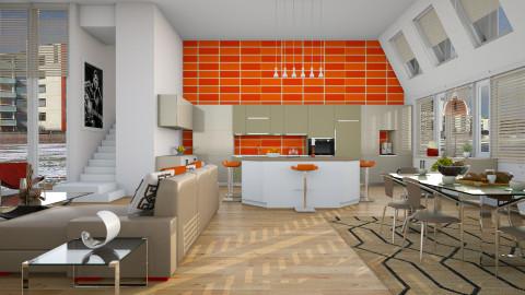 Family Room - Modern - Kitchen  - by Sama Elhendy