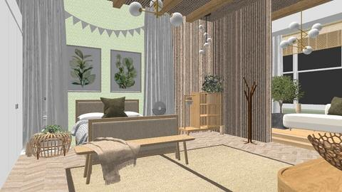 sage green room - Bedroom  - by itsjustasussybaka