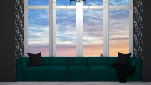 Slytherin Baywindow - Glamour - Living room  - by avika