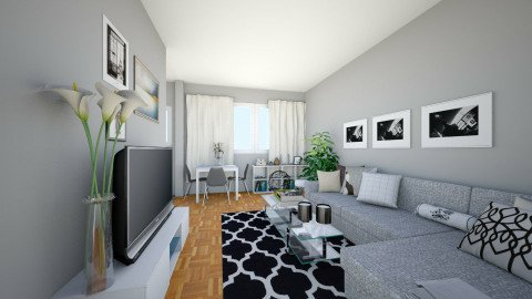 Gosia - Living room - by agafrutek