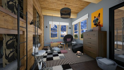 Bunking in Banff - Rustic - Kids room  - by IdaJo