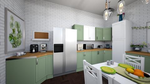 kitchen design final proj - Kitchen  - by red_r1ot