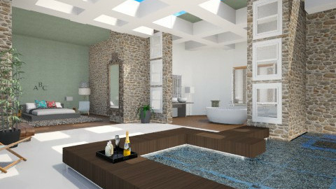 En suit courtyard  - Modern - Bedroom  - by Georgieex