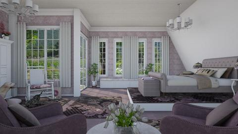 Design 392 Mauve and White - Bedroom  - by Daisy320
