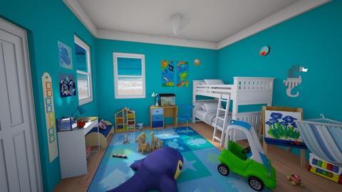 Kids Ocean Room - Classic - Kids room  - by Sophia Cooper