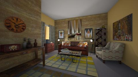 vintage livingroom - Retro - Living room  - by kla