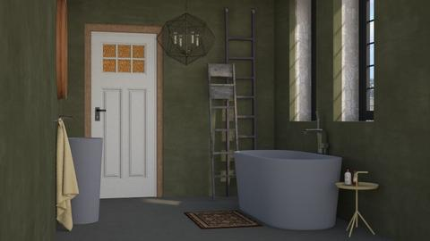 Olive green bathroom - Modern - Bathroom - by HenkRetro1960
