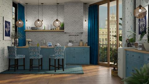 Madison Park Saffron Blue - Modern - Kitchen  - by Claudia Correia