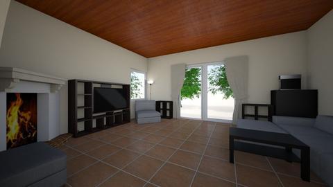 nappali_mostani_curtain - Living room  - by doralocsi