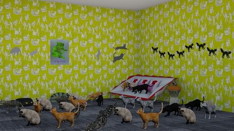 Crazy Cat Lady - Living room  - by Jahsoftball_