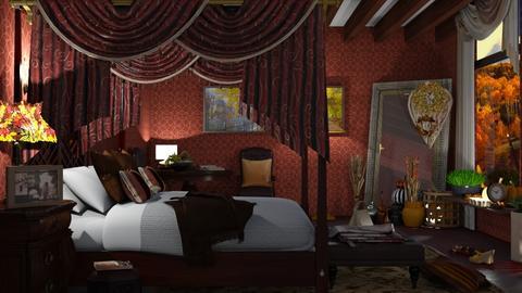 autumn bedroom - by nat mi
