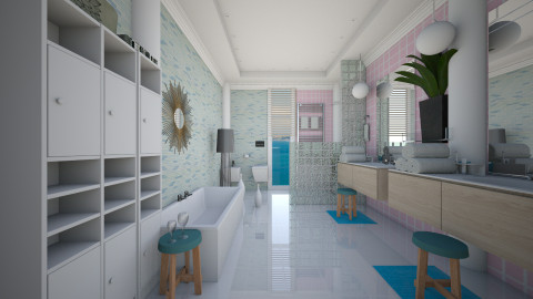 t - Modern - Bathroom  - by Evangeline_The_Unicorn