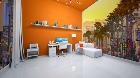 Orange Office - Modern - Office  - by Agamanta