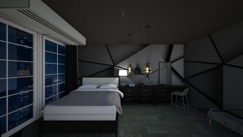 black room - Modern - Bedroom  - by alexa0921