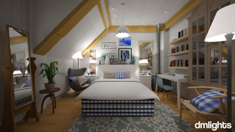hasten bedroom 2 - Country - Bedroom  - by DMLights-user-982918