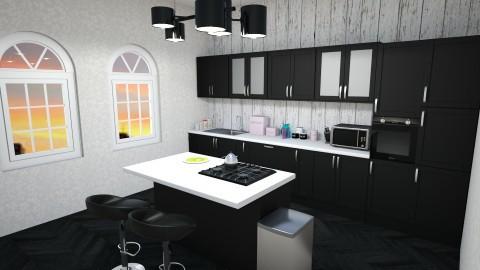 black and white  - Classic - Kitchen  - by Elda