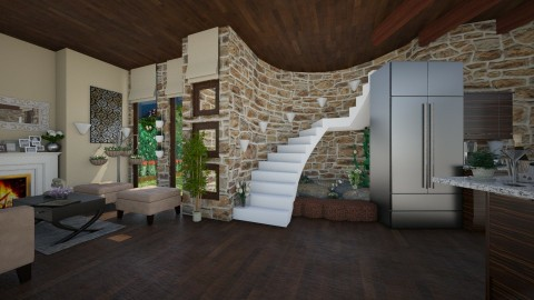between modern and rustic - Living room - by AndreaMTorres1