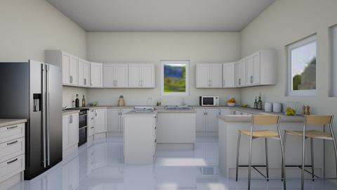 Cheery Kitchen - Modern - Kitchen  - by millerfam