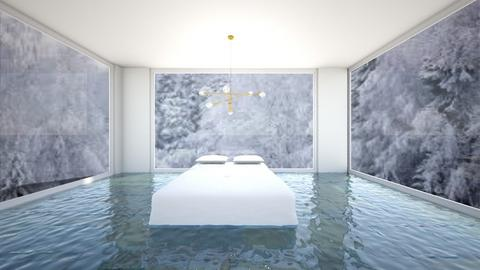 Floating Bed on Water - Modern - Bedroom  - by Taehyungie