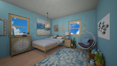 Ocean Bedroom - Bedroom - by chocolatedonut71