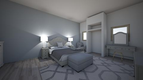 grey bedroom - Bedroom  - by Nghia Cadet