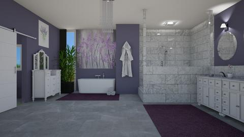 Lavender Bathroom - by amwerner