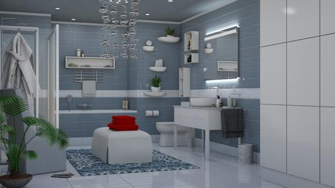 Mid Century Modern - Eclectic - Bathroom  - by Theadora