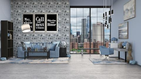 BLUE OFFICE - Modern - by RS Designs