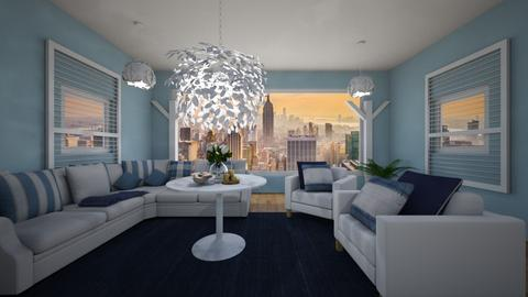 _ blue for me and you_ - Classic - Living room  - by NEVERQUITDESIGNIT