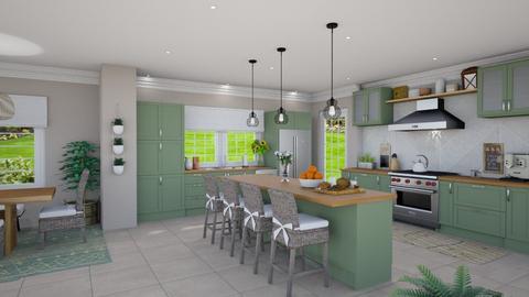 Modern Farmhouse Kitchen - Kitchen  - by islandvibz